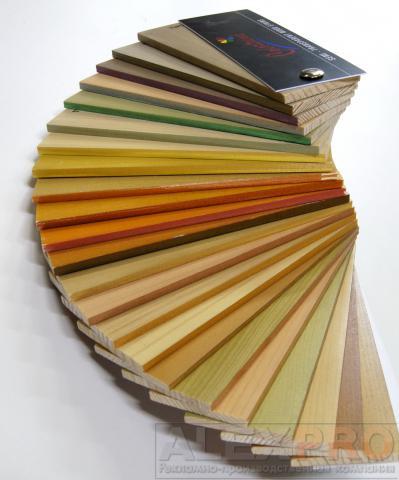 Веер с образцами пропиток для древесины