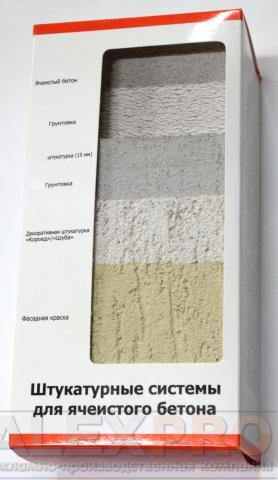 компактные образцы системы штукатурного фасада