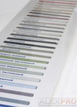 антивандальный планшет с образцами затирочных смесей